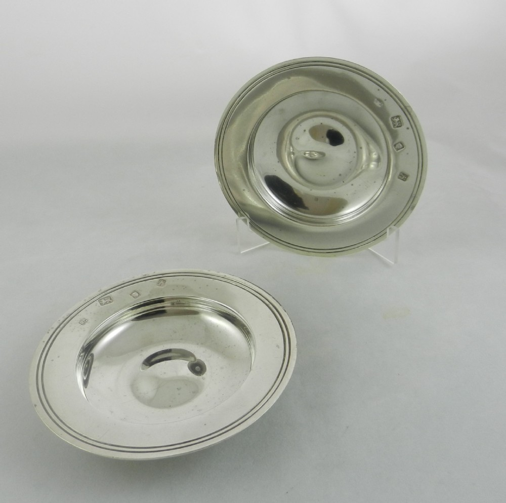 pair silver armada dishes