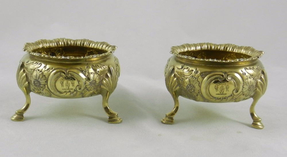 antique silvergilt salts