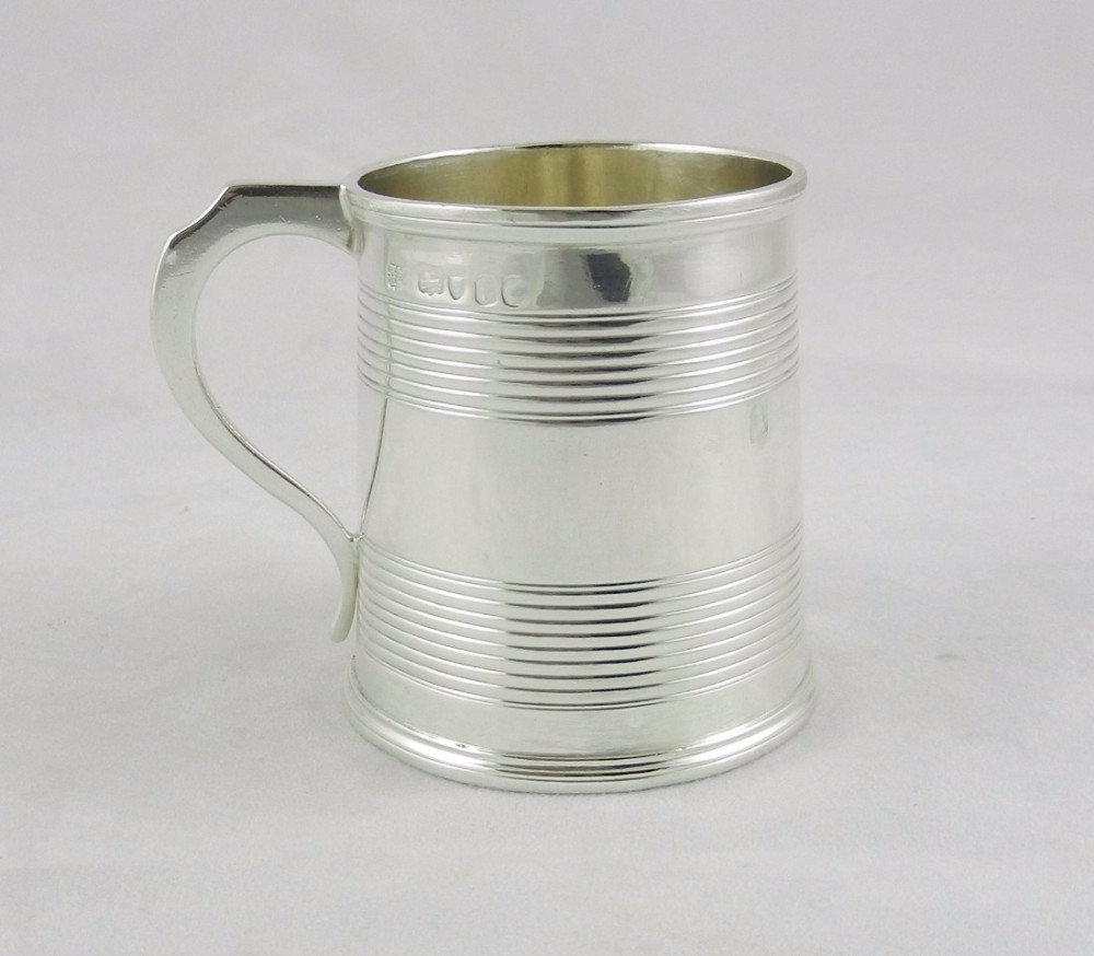 antique silver mug