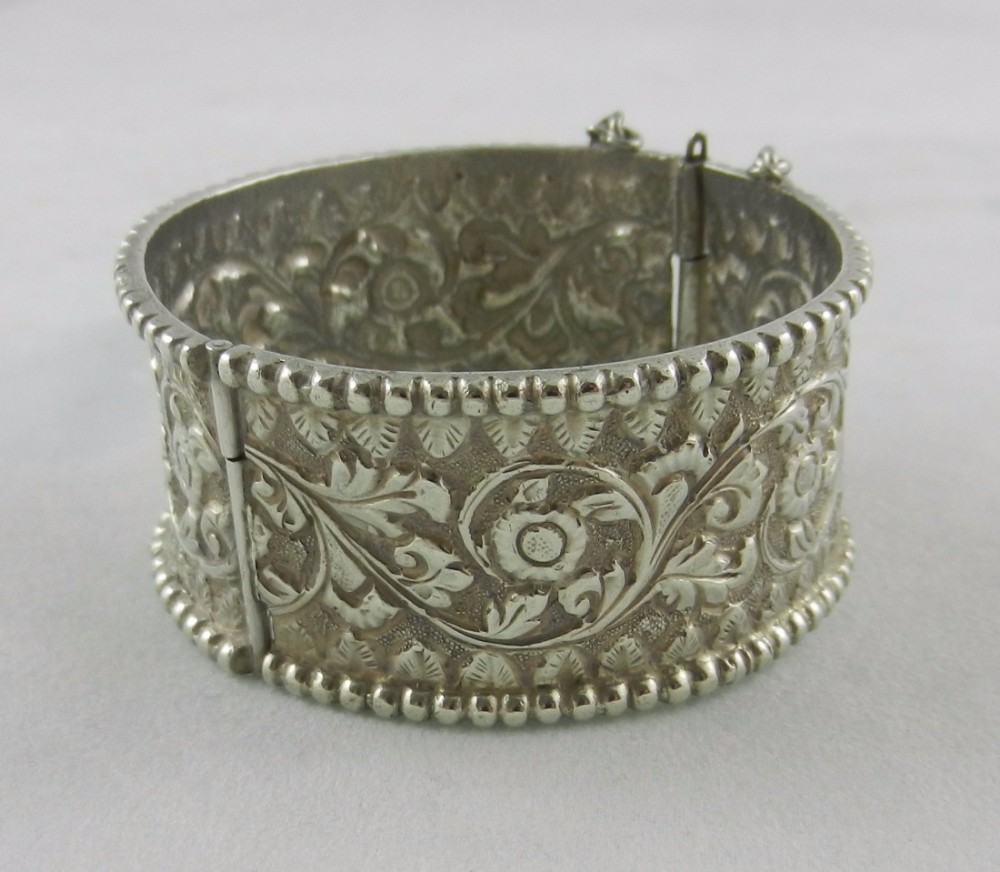 antique indian silver bangle