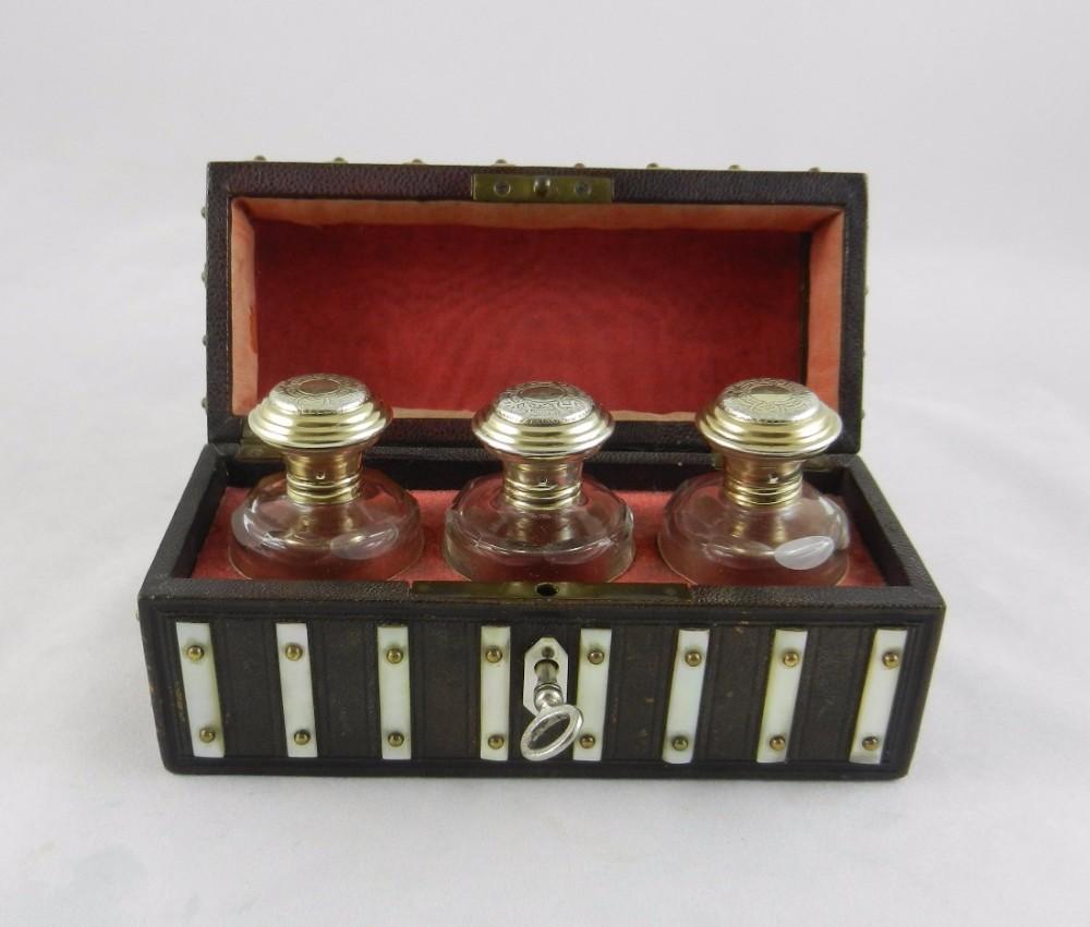 antique silvergilt glass scent bottles