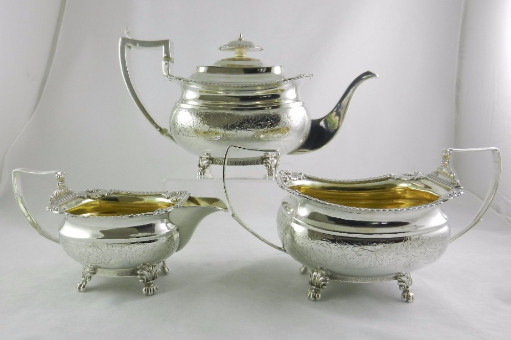 geo iii silver tea set