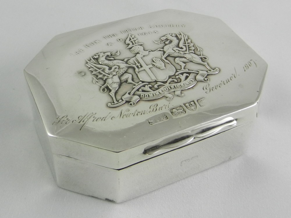 antique silver box of huge intrigue