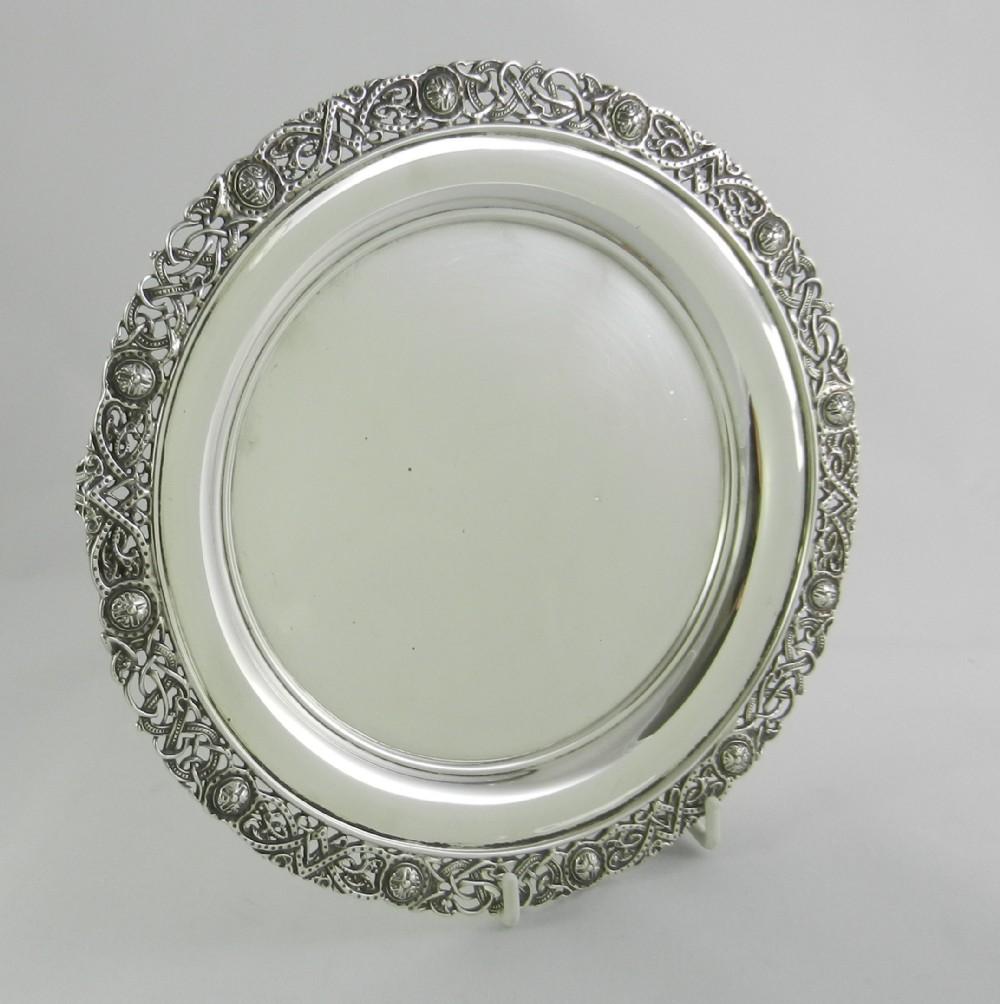 celtic pattern silver salver