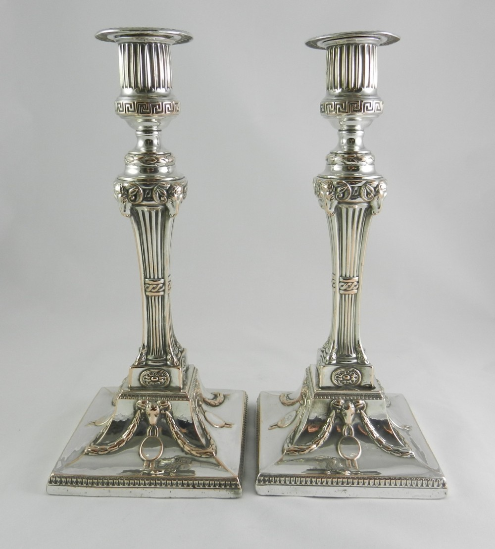 georgian old sheffield candlesticks