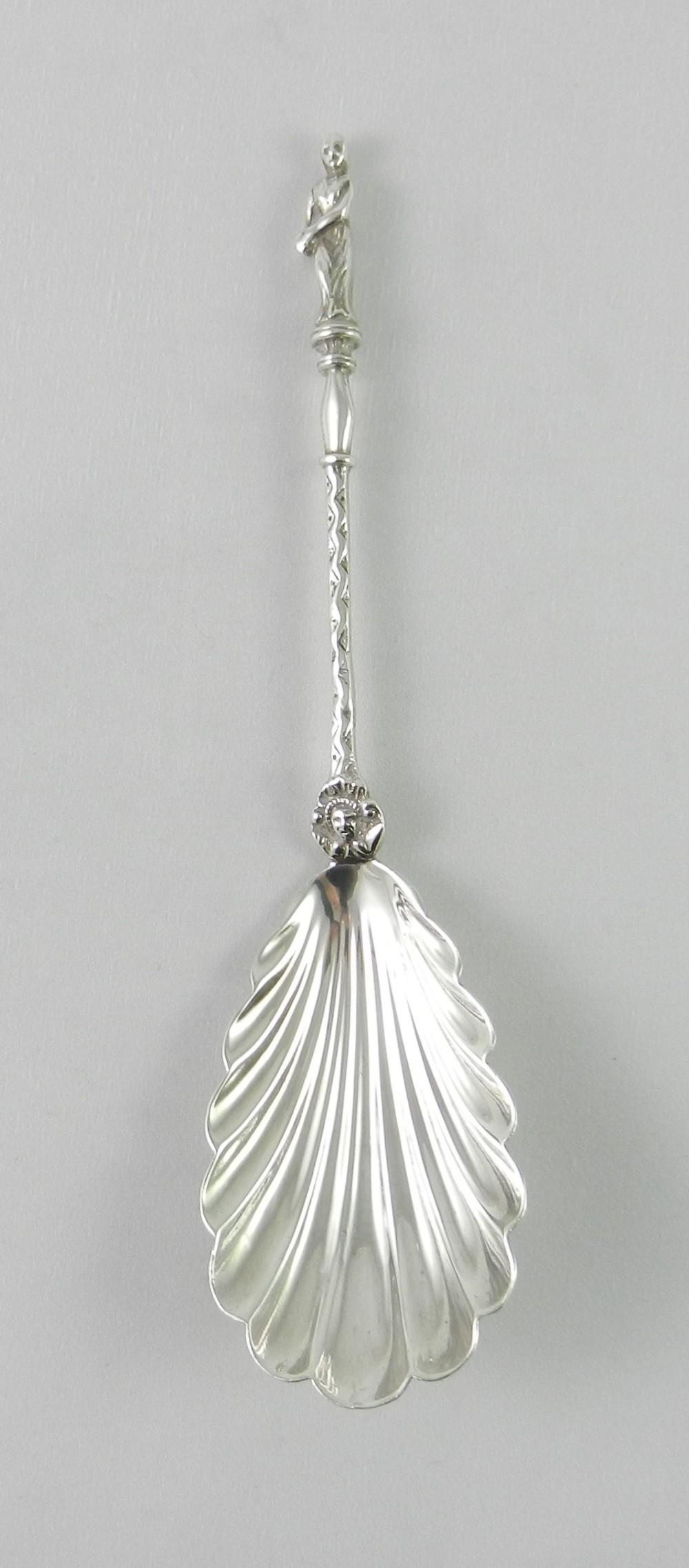 antique silver serving spoon