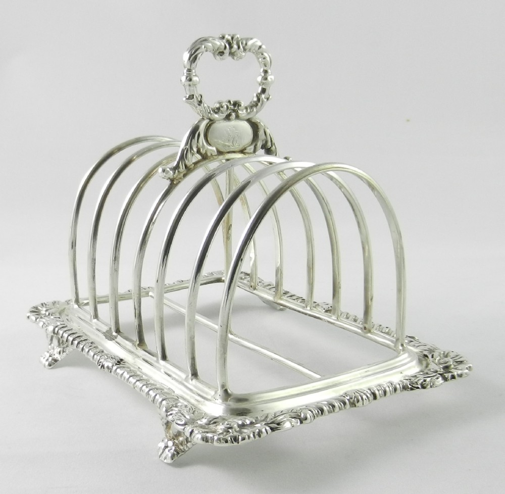 georgian silver toast rack