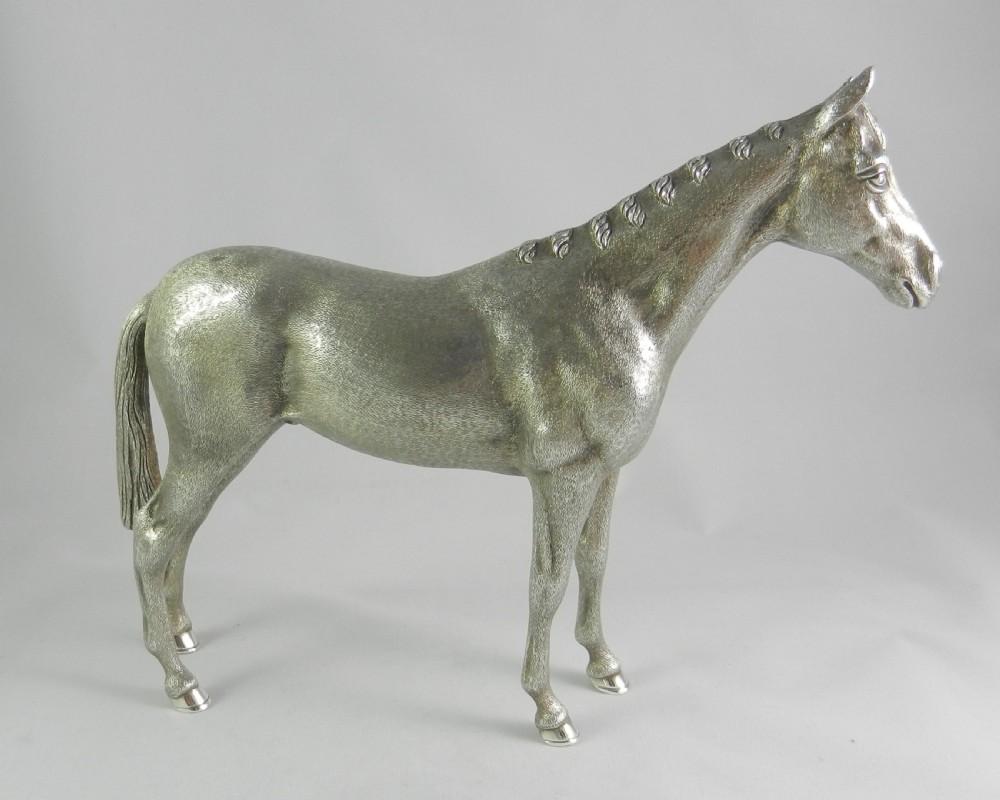 silver horse figure