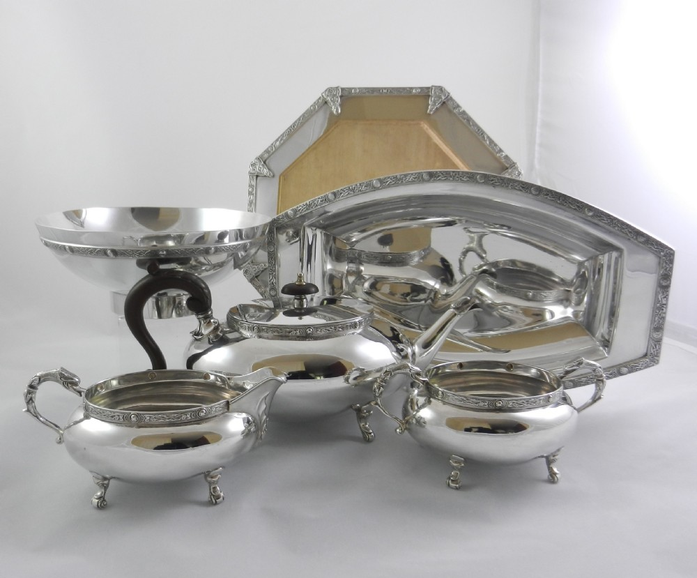 silverplated celtic knot breakfast suite
