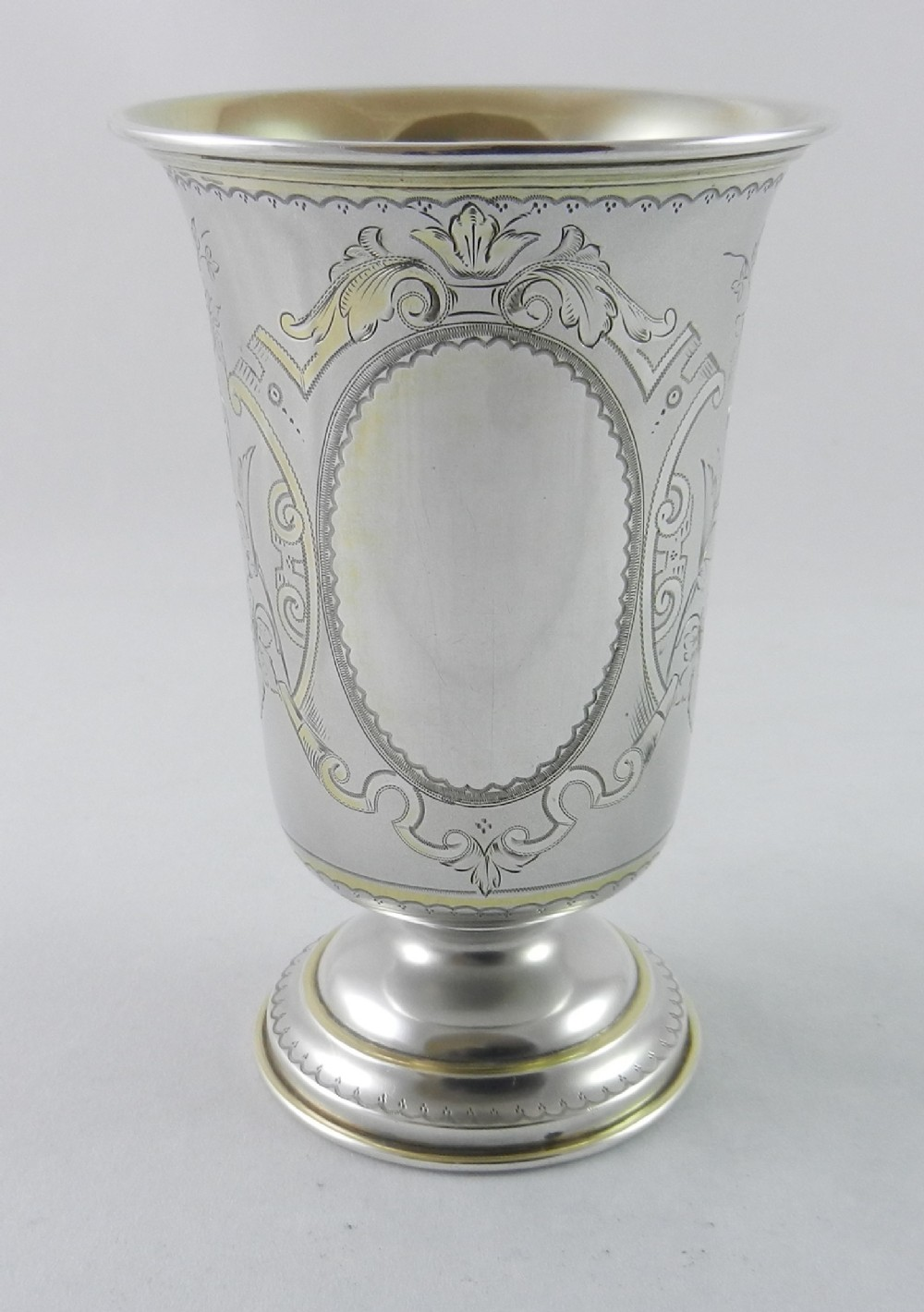 antique silver aesthetic movement goblet