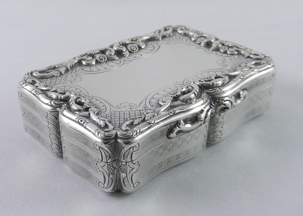antique silver nathaniel mills snuff box