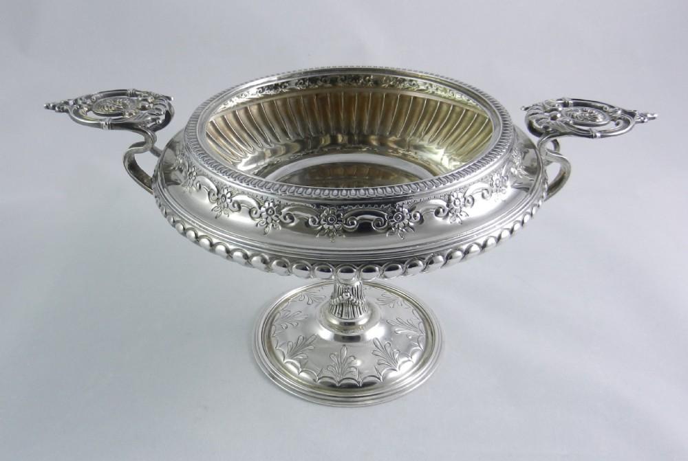 antique silver tazza