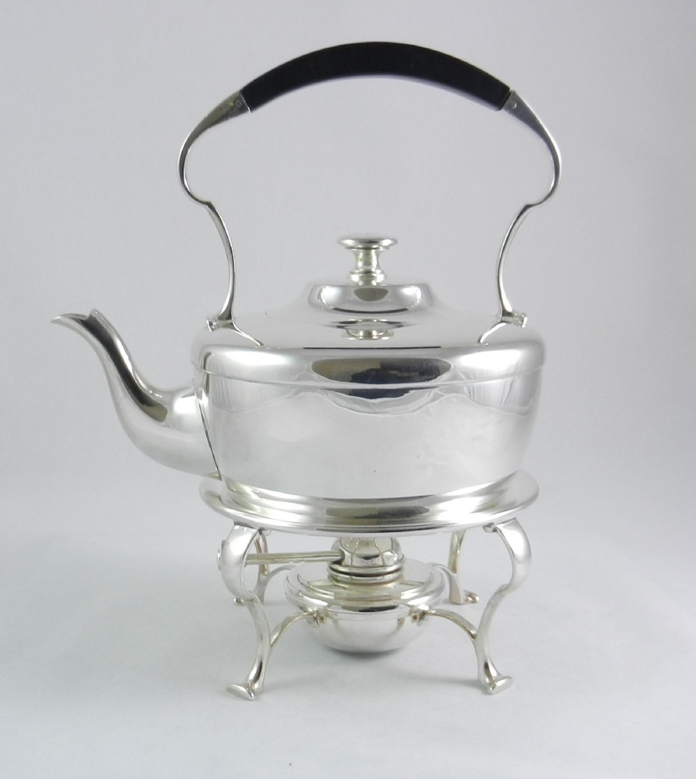 arts crafts silverplated kettle stand
