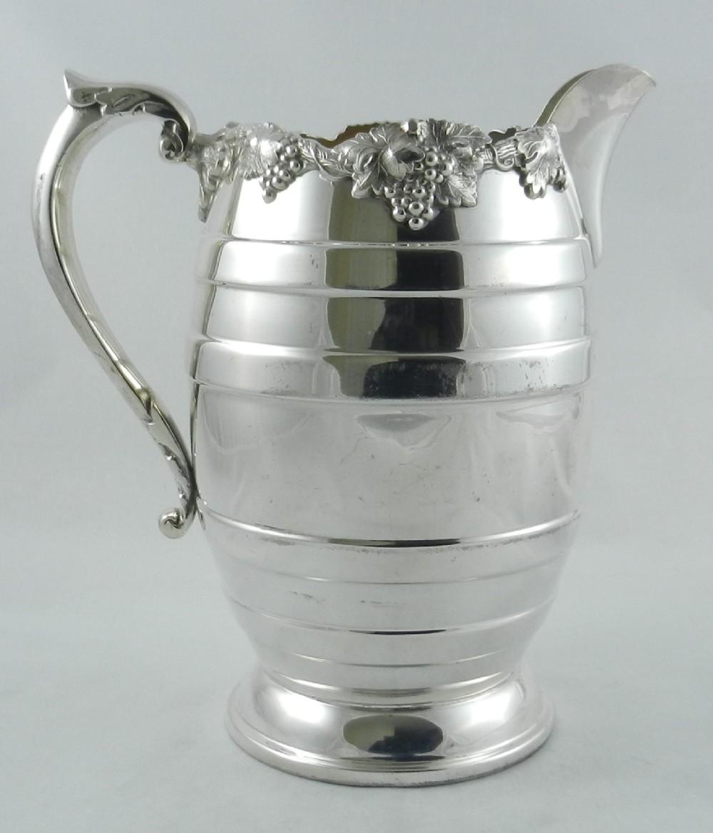 large silverplate pitcher