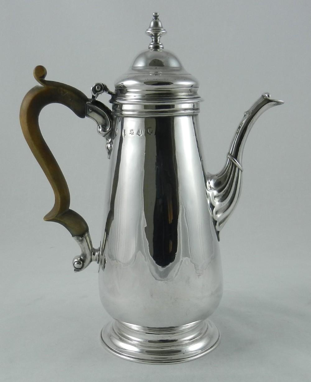 georgian silver coffee pot
