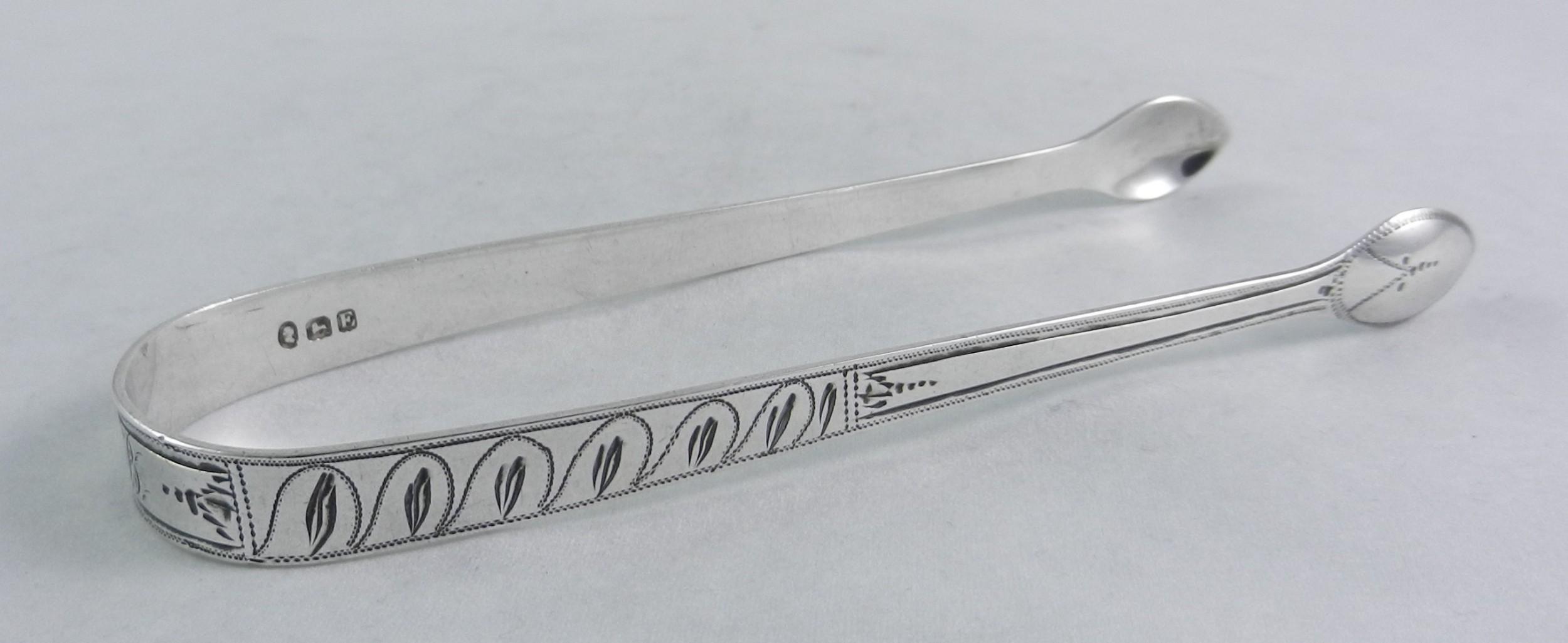 silver bateman sugar tongs