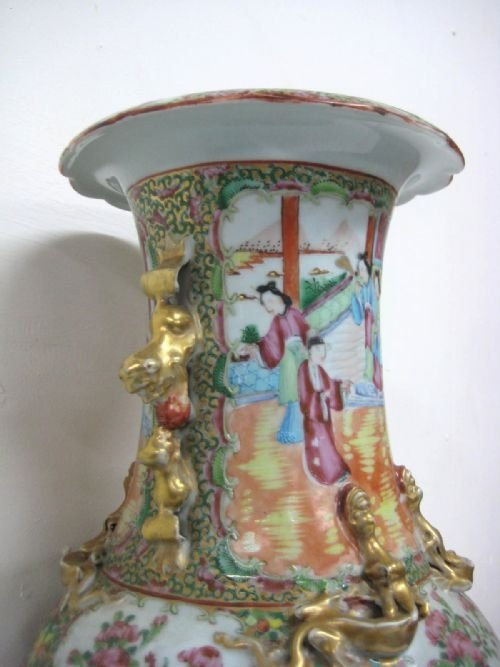 chinese canton famille rose vase - photo angle #2