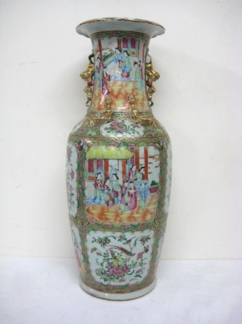 chinese canton famille rose vase