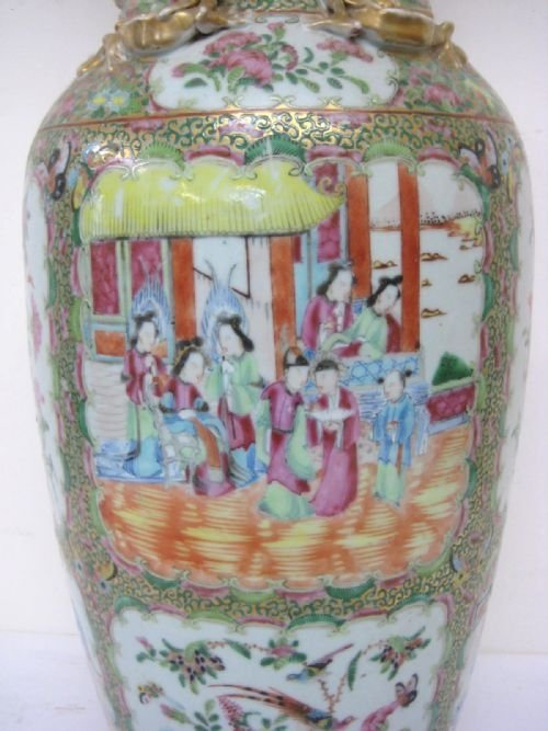 chinese canton famille rose vase - photo angle #3