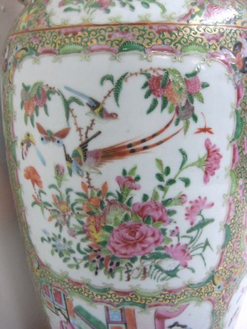 chinese canton famille rose vase - photo angle #4