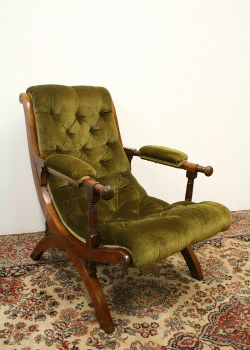 arts crafts walnut ladies easy chair - Arts & Crafts Walnut Ladies Easy  Chair 225458 Sellingantiques - Antique Easy Chair Antique Furniture