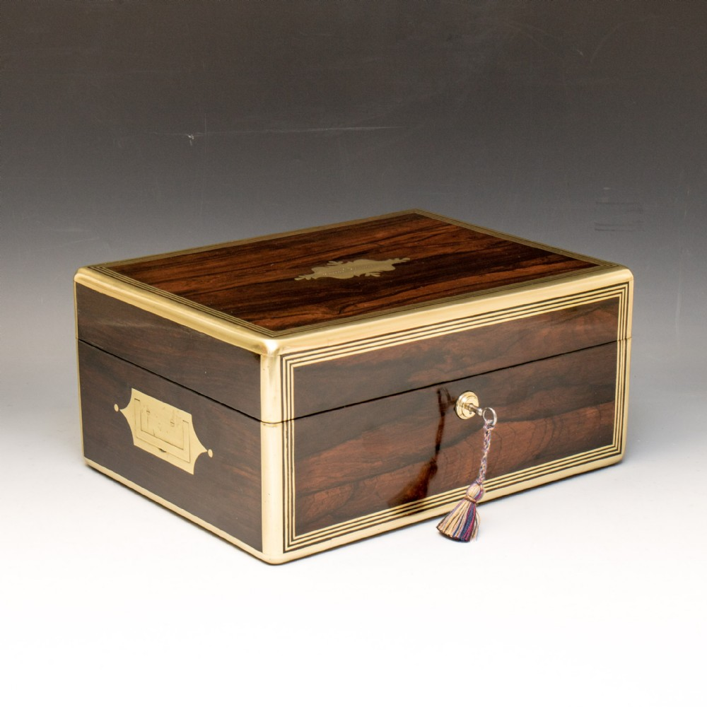 a very fine mid 19th century rosewood box