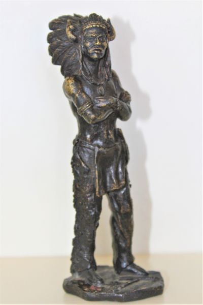 bronze figure of a red indian