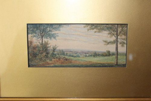 signed painting of massachusetts usa by american artist george j tribe
