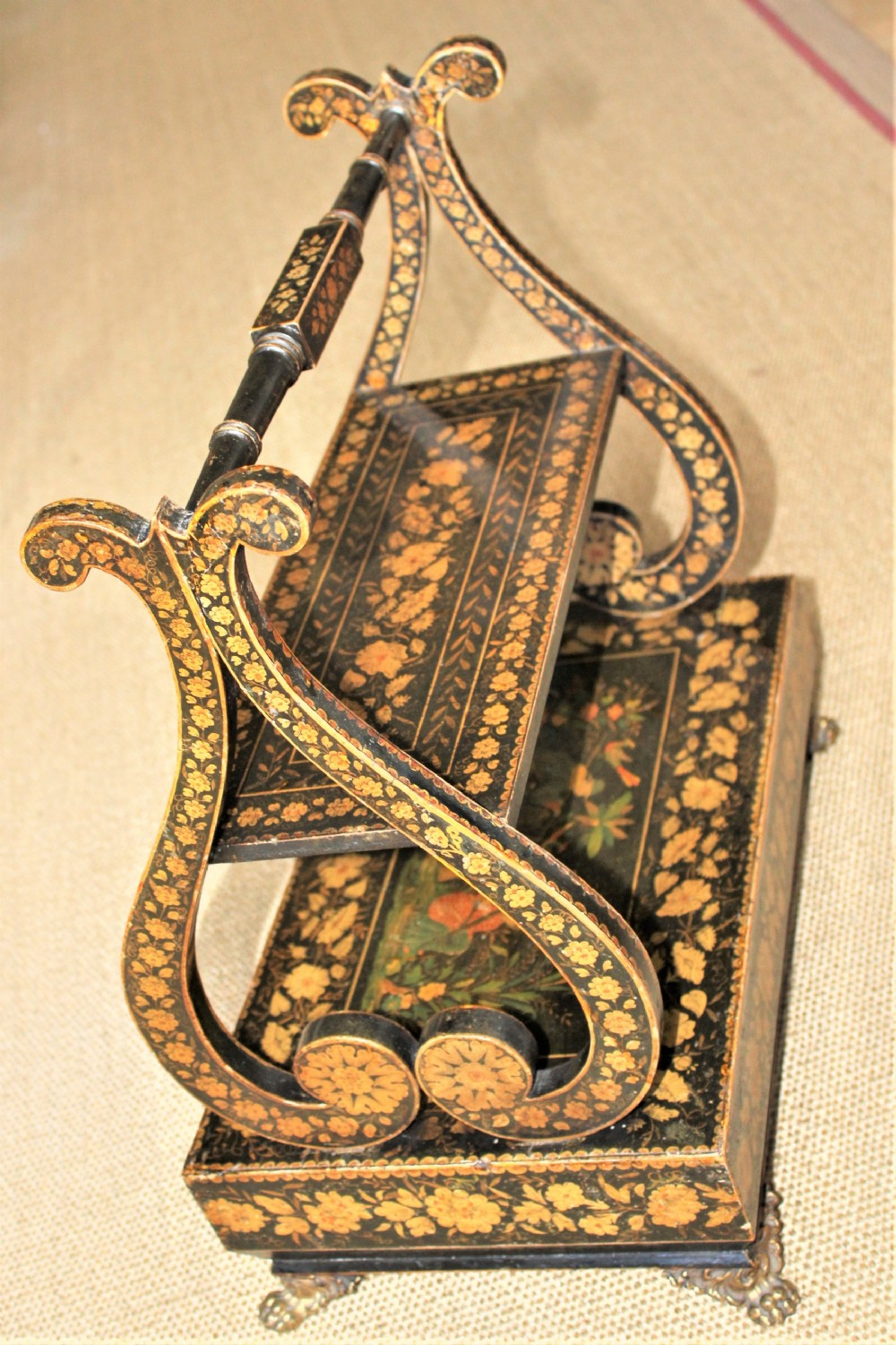 a regency pen work table book stand in the chinoiserie style