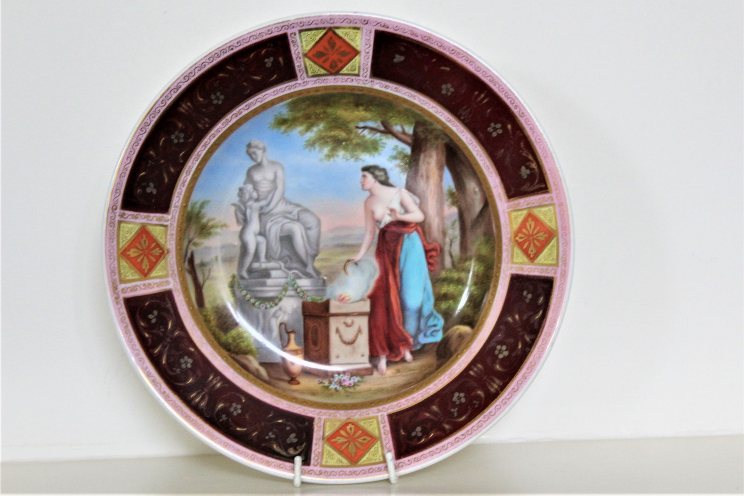 a royal vienna hand painted plate