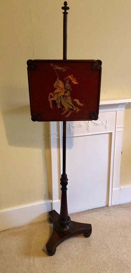 regency mahogany pole screen