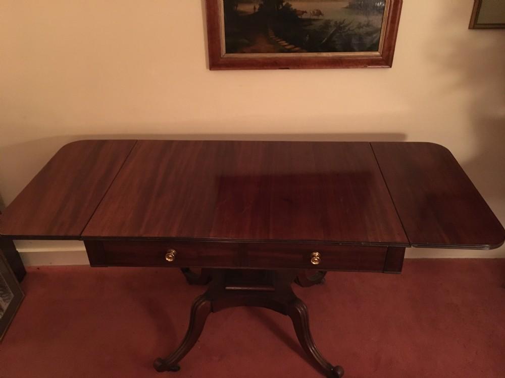 mahogany george iii two drawer sofa table c 1800