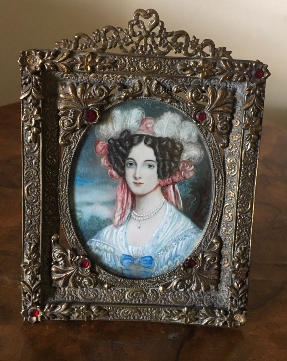 a superb portrait miniature of an unknown italian lady
