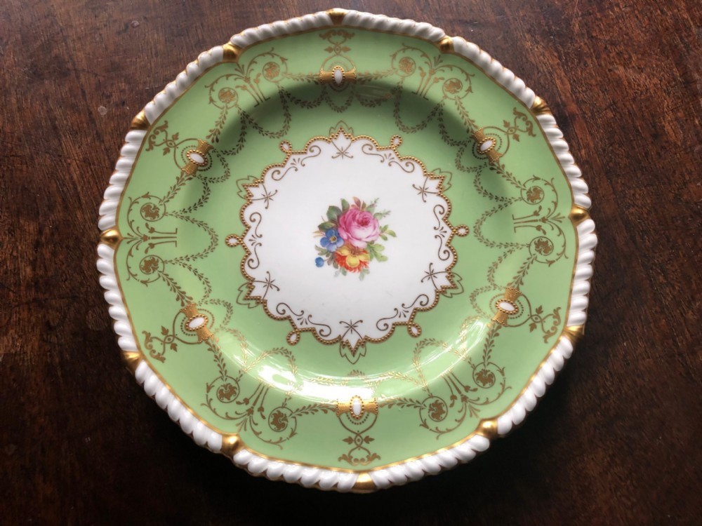 royal crown derby hand painted display plate with floral decoration 1