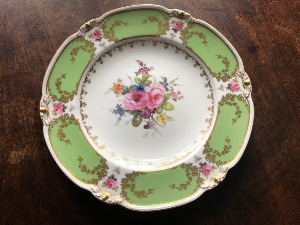 royal crown derby hand painted display plate with floral decoration 2