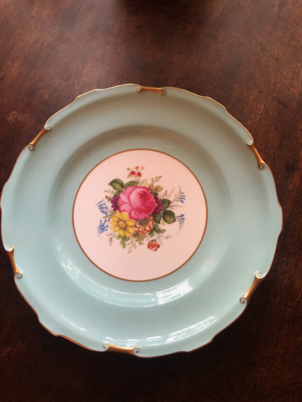 1941 royal crown derby plate hand painted by f garnett