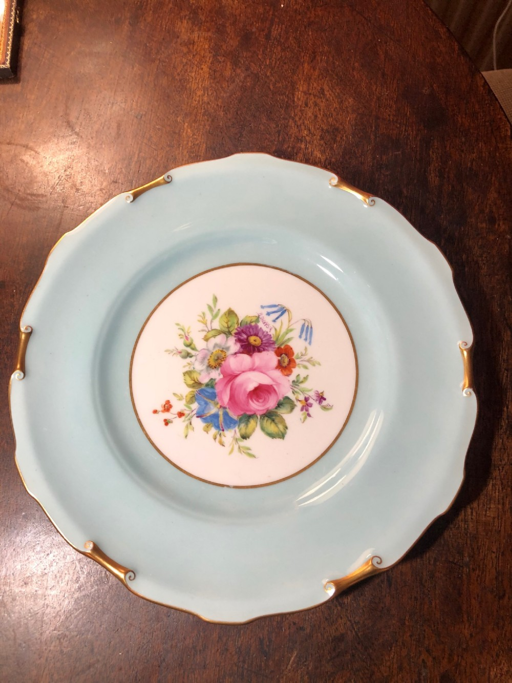 royal crown derby plate painted by f garnett