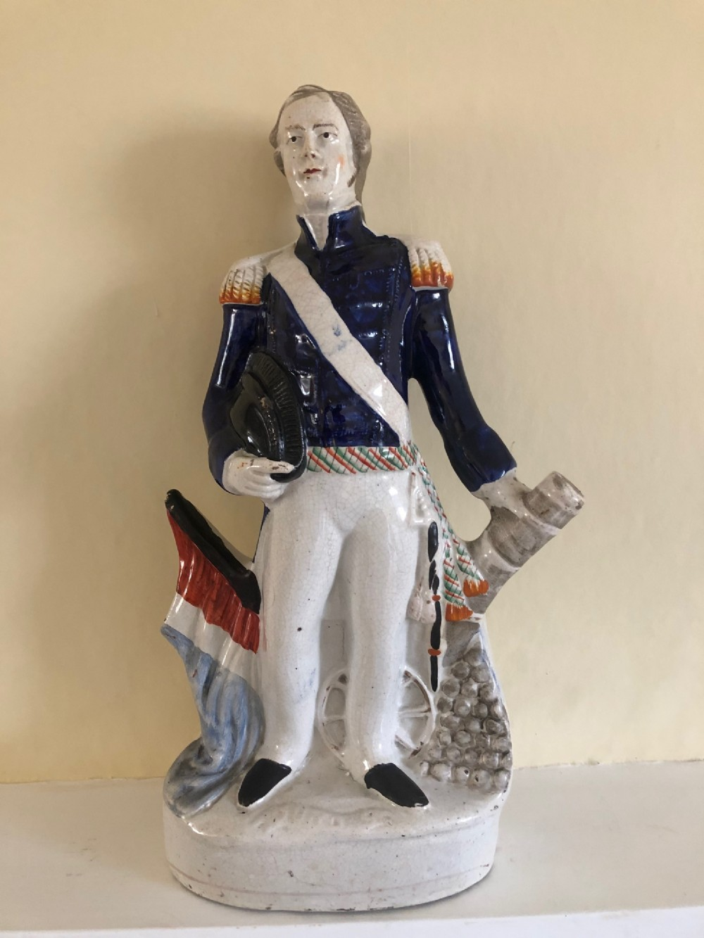 victorian staffordshire figure of admiral sir james dundas