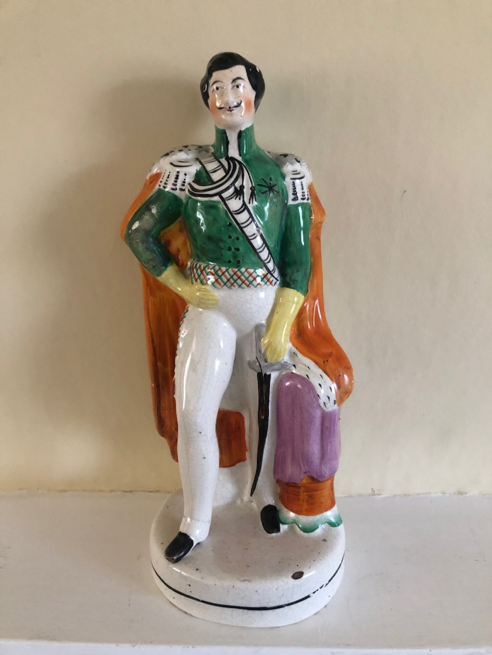 victorian staffordshire figure of prince albert