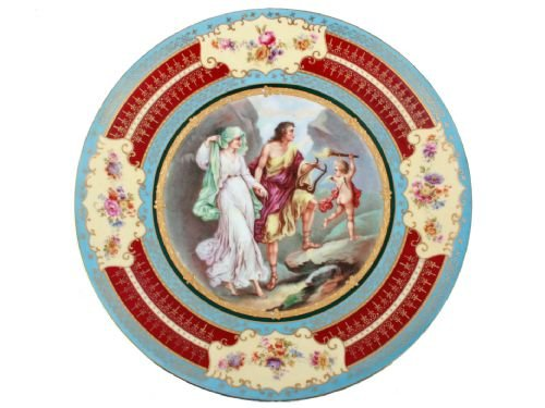 austrian royal vienna porcelain plaque