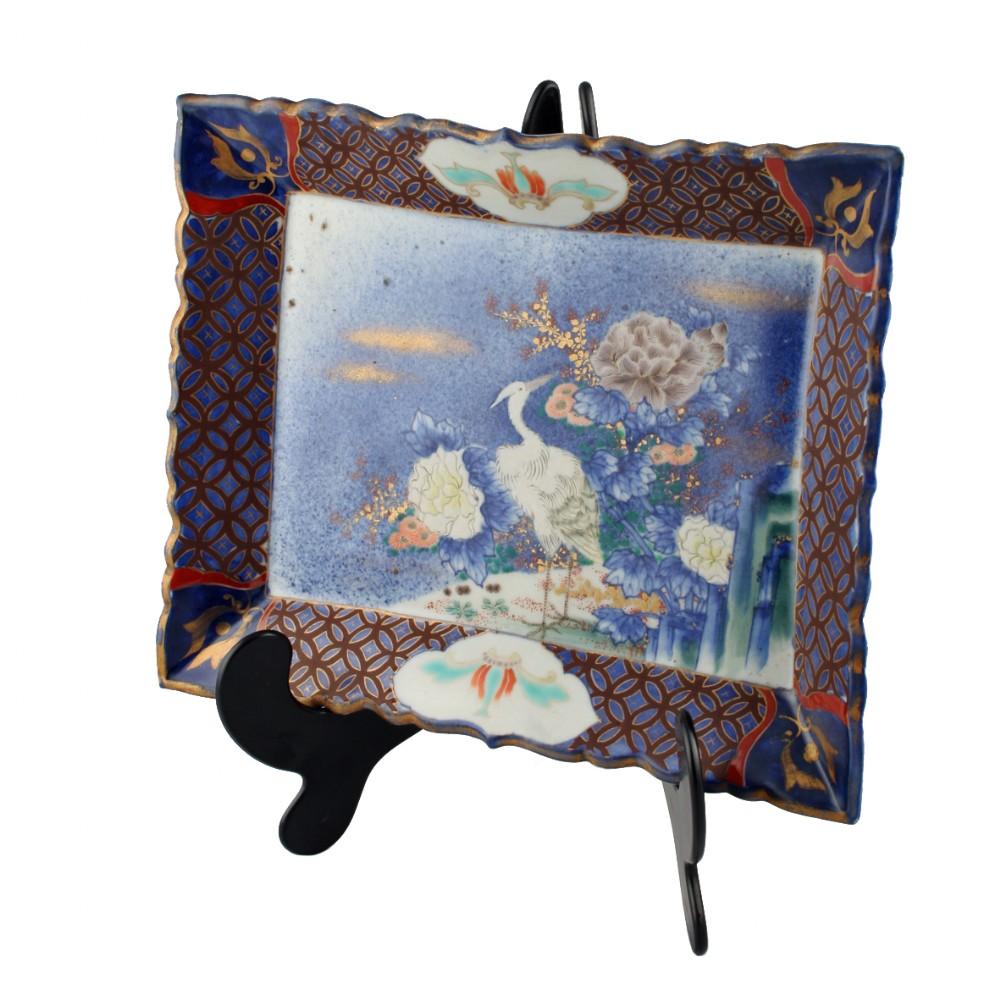 japanese imari pottery plaque