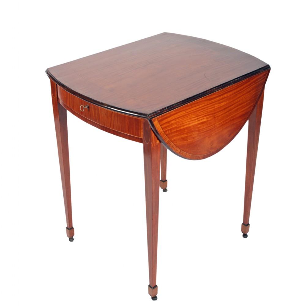 18th century satinwood pembroke table