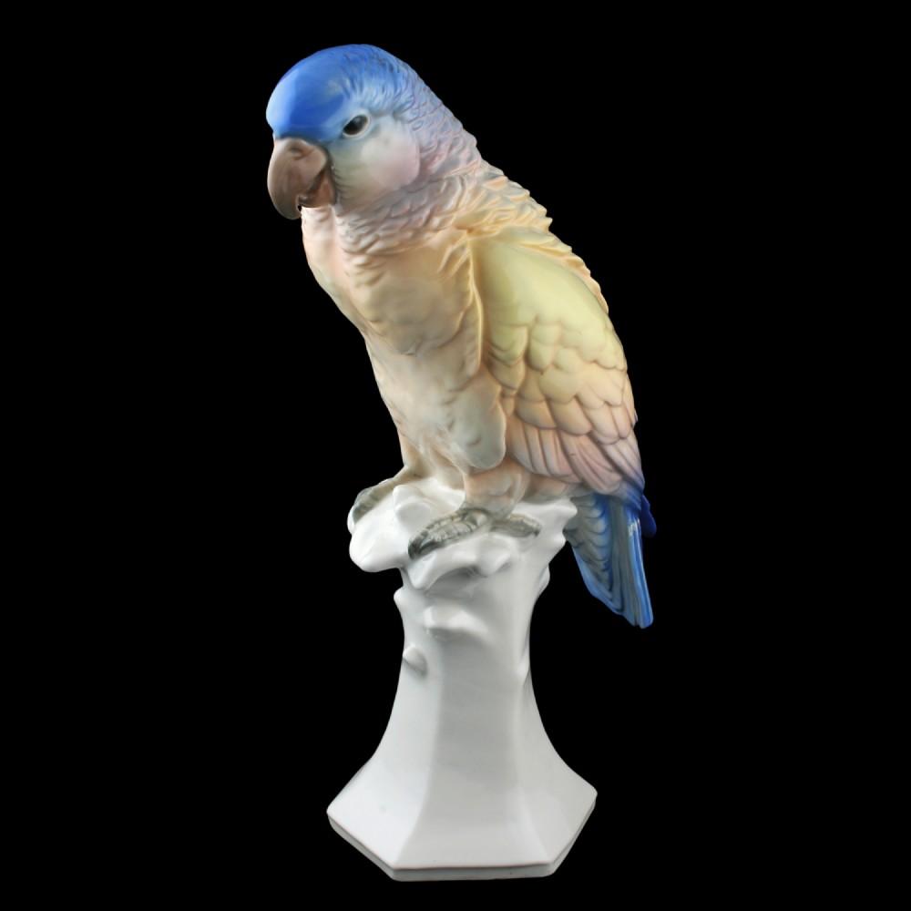 karl ens porcelain parrot