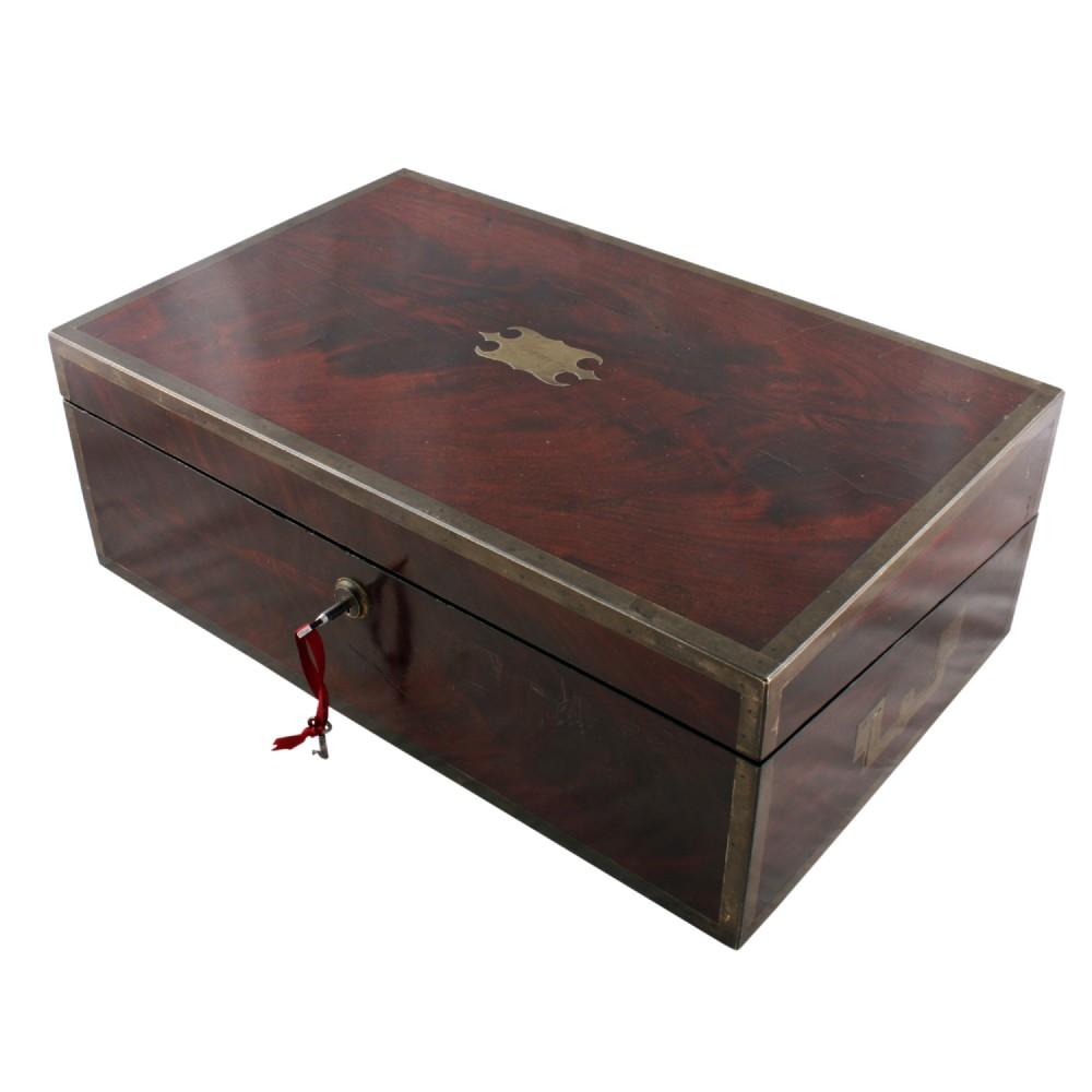 georgian mahogany box desk