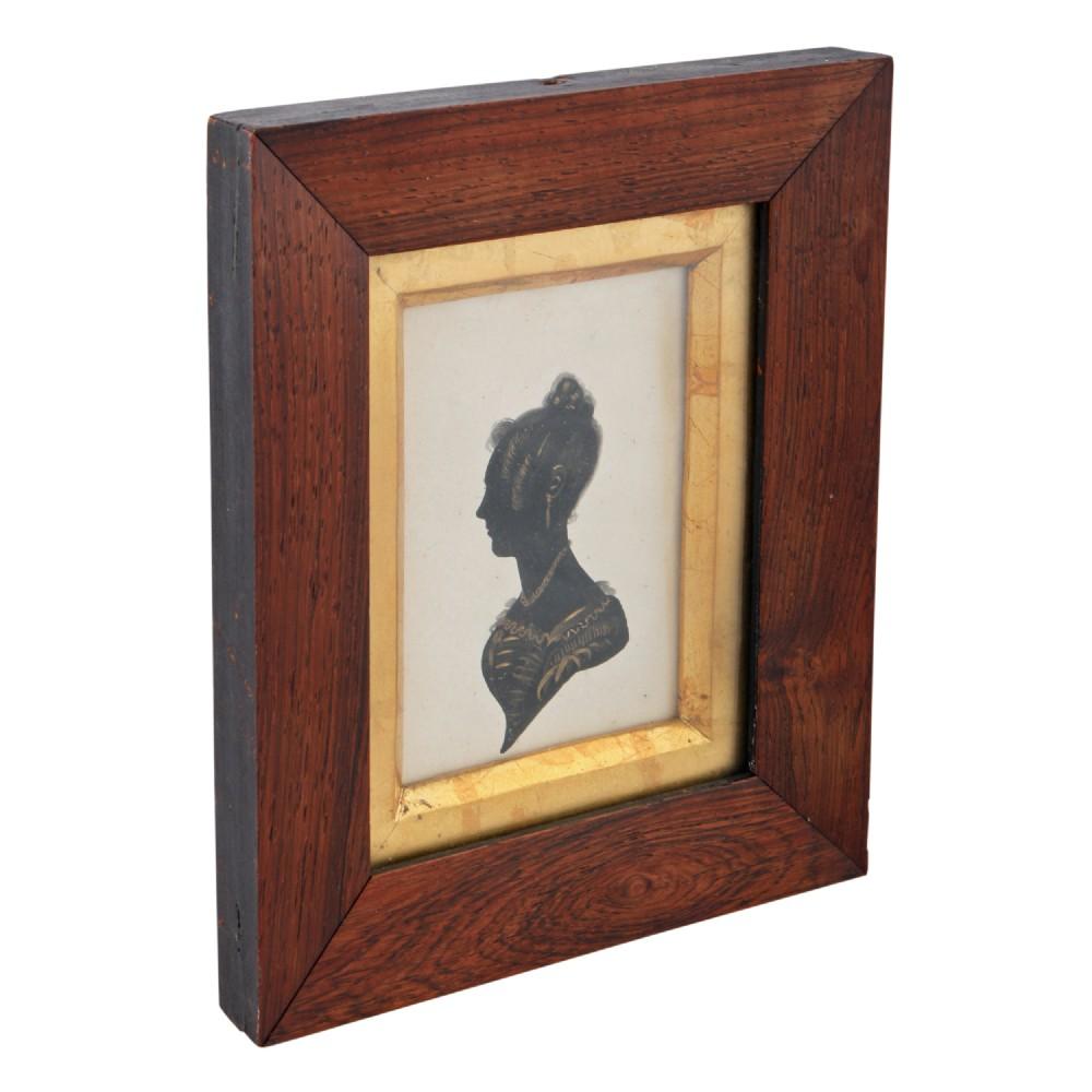 19th century framed silhouette