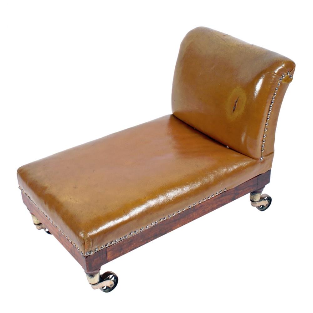 large regency teak gout stool