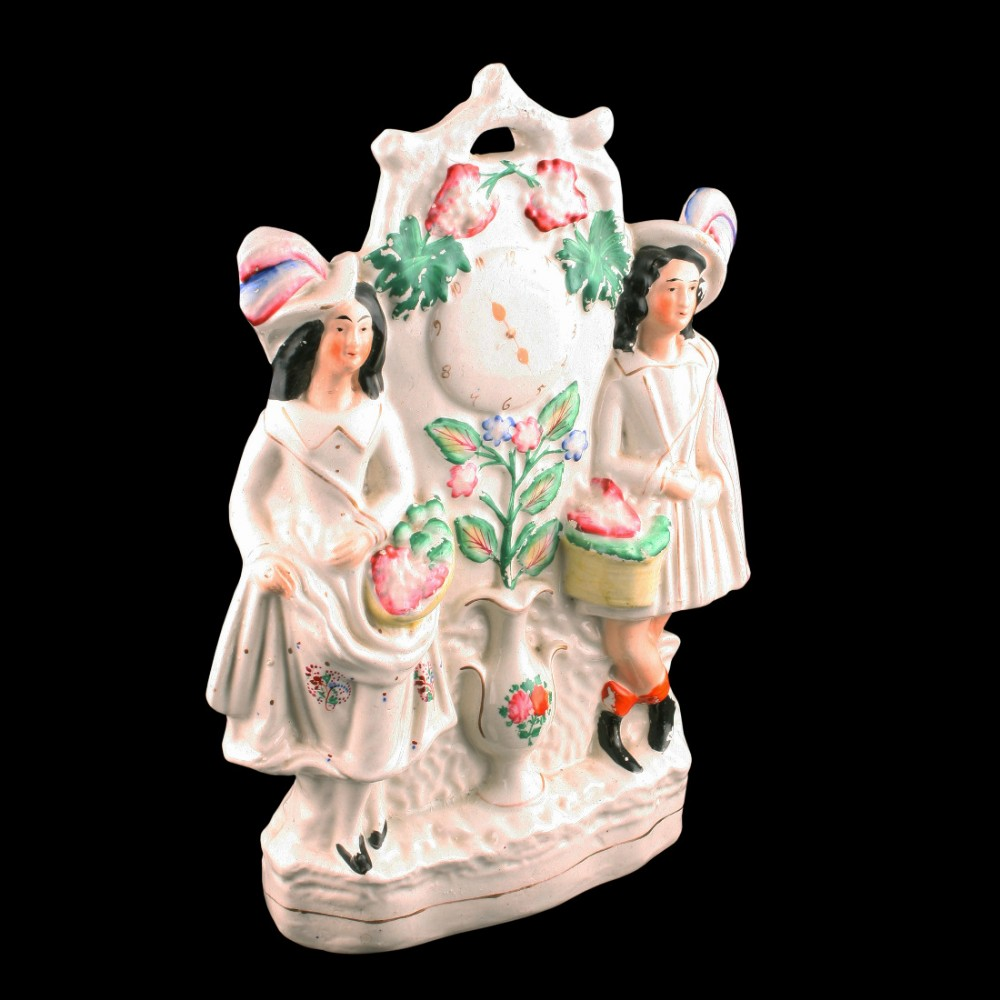 victorian staffordshire pottery group