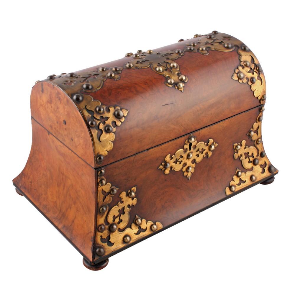 victorian walnut tea caddy