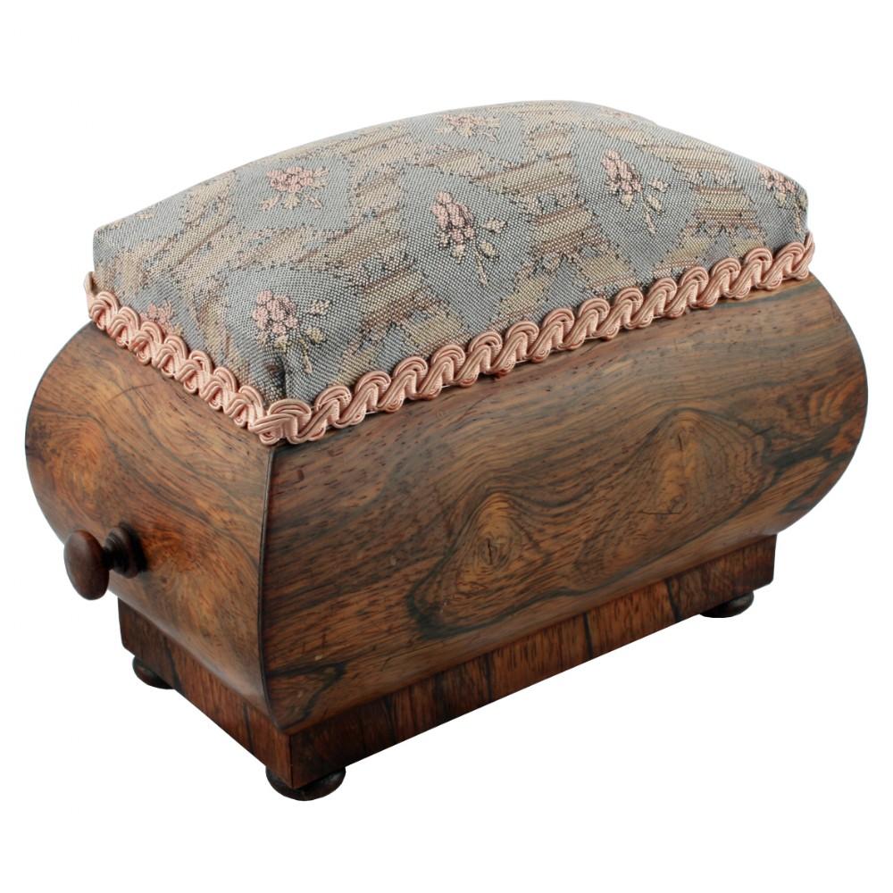 georgian rosewood pin cushion box