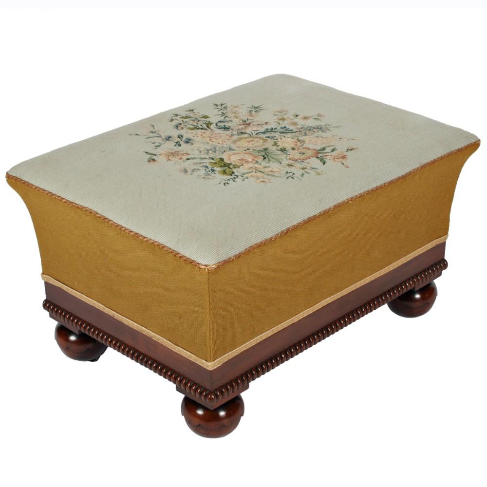 victorian oblong mahogany stool